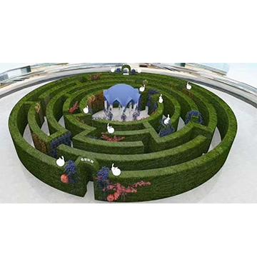 仿真迷宫绿雕