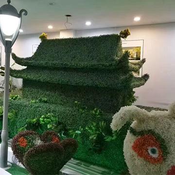 国庆仿真绿雕