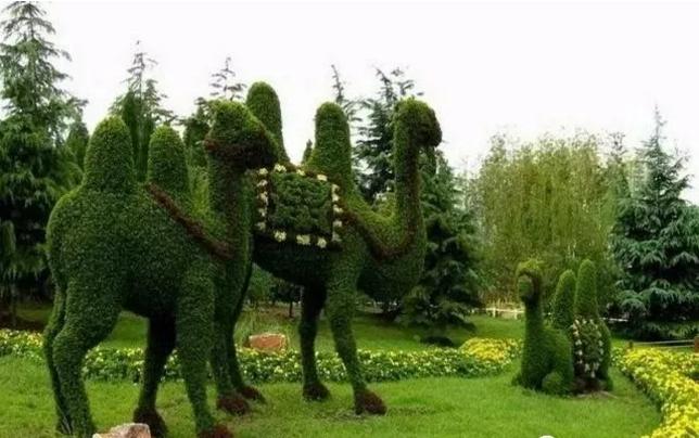 仿真植物绿雕的制作