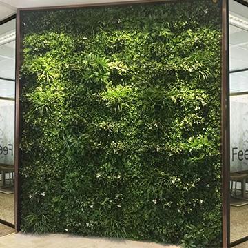 企业办公背景仿真植物墙