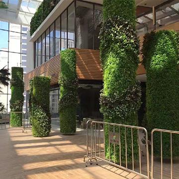 仿真植物墙立柱