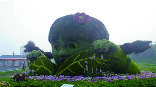 仿真绿雕创意