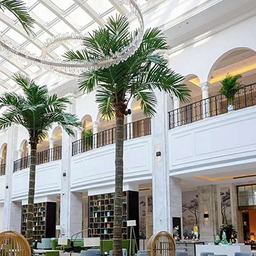 喜来登酒店玻璃钢仿真椰子树