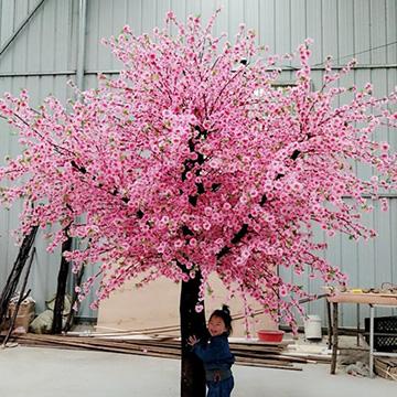 玻璃钢树干仿真桃花树