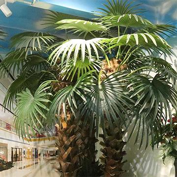 商场仿真棕榈树