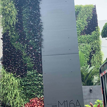 别墅室外仿真植物墙