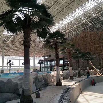 郑州水上乐园仿真棕榈树