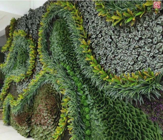 仿真植物墙与建筑的结合形式