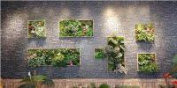 仿真植物壁画