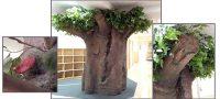 仿真树包柱子