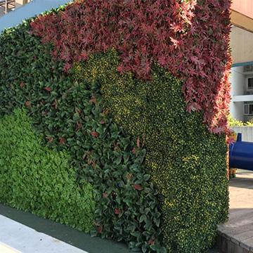 小区仿真绿植墙