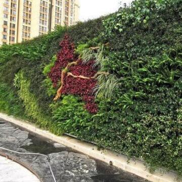 售楼部围挡植物墙